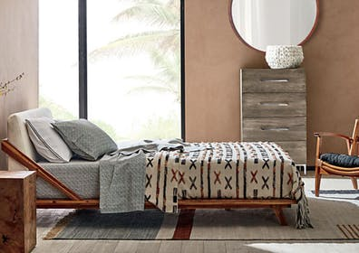 Drommen Acacia Wood Bed Gallery Image #2