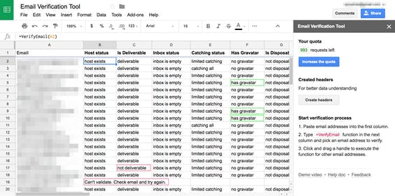 Email Verification in Google Sheets Gallery Image #4