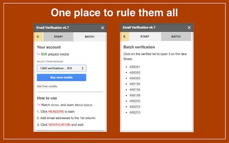 Email Verification in Google Sheets Gallery Image #0