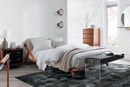 Drommen Acacia Wood Bed Gallery Image #1